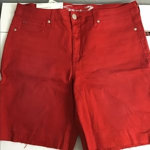 Seven7 Red Bermuda Shorts (14)